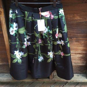 Ted Baker black floral print shirt size 4